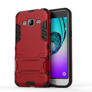 Outdoor odolný obal pre Samsung Galaxy J3 - červené - 2