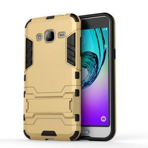 Outdoor odolný obal na Samsung Galaxy J3 - zlaté - 2