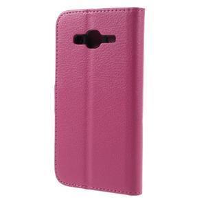 Peňaženkové puzdro pre mobil Samsung Galaxy J3  (2016) - rose - 2