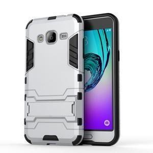 Outdoor odolný obal na Samsung Galaxy J3 - stříbrné - 2