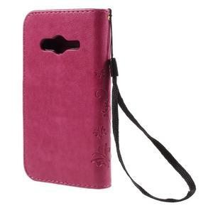 Butterfly puzdro pre mobil Samsung Galaxy Trend 2 Lite - rose - 2