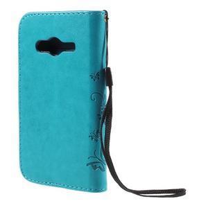 Butterfly pouzdro na mobil Samsung Galaxy Trend 2 Lite - modré - 2