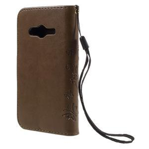 Butterfly puzdro pre mobil Samsung Galaxy Trend 2 Lite - coffee - 2