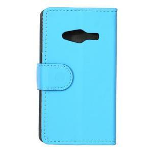Wall peňaženkové puzdro pre Samsung Galaxy Trend 2 Lite - modré - 2