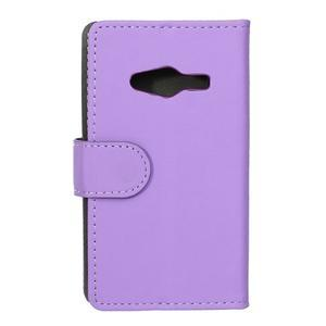 Wall peňaženkové puzdro pre Samsung Galaxy Trend 2 Lite - fialové - 2