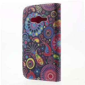 Peňaženkové puzdro pre Samsung Galaxy Trend 2 Lite - farebné kruhy - 2