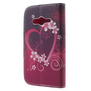 Peňaženkové puzdro pre Samsung Galaxy Trend 2 Lite - srdca - 2