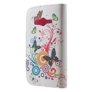 Peňaženkové puzdro pre Samsung Galaxy Trend 2 Lite - motýle - 2