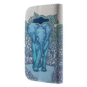 Peňaženkové puzdro pre Samsung Galaxy Trend 2 Lite - modrý slon - 2