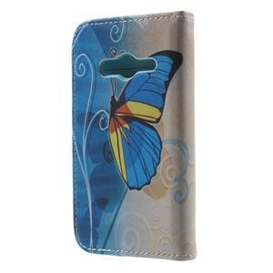 Motive puzdro pre mobil Samsung Galaxy Trend 2 Lite - modrý motýl - 2