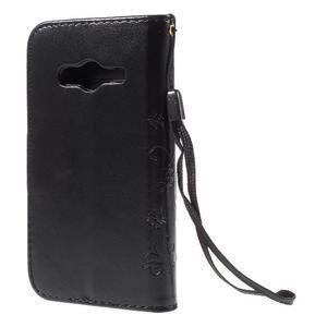 Butterfly pouzdro na mobil Samsung Galaxy Trend 2 Lite - černé - 2