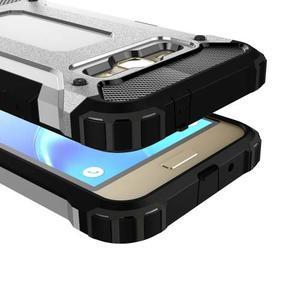 Armory odolný obal pre mobil Samsung Galaxy J1 (2016) - strieborny - 2