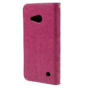 Butterfly koženkové puzdro na Microsoft Lumia 550 - rose - 2