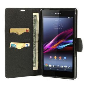 Diary PU kožené pouzdro na Sony Z Ultra - černé - 2