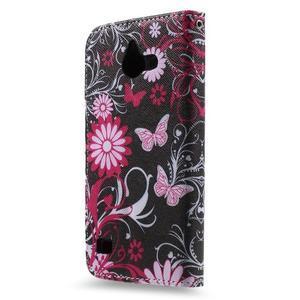 Štýlové puzdro na mobil Huawei Ascend Y550 - kúzelné motýle - 2