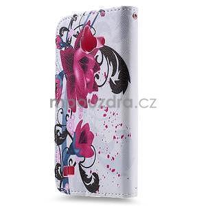 Štýlové puzdro na mobil Huawei Ascend Y550 - kvety - 2