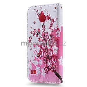 Stylové puzdro na mobil Huawei Ascend Y550 - kvetoucí větvička - 2