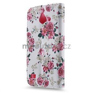 Štýlové puzdro na mobil Huawei Ascend Y550 - kvetinová koláž - 2