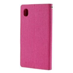 Canvas textilné/koženkové puzdro pre Sony Xperia M4 Aqua - rose - 2