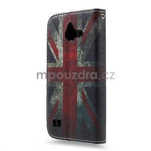 Štýlové puzdro na mobil Huawei Ascend Y550 - UK vlajka - 2