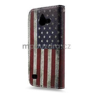 Štýlové puzdro na mobil Huawei Ascend Y550 - US vlajka - 2