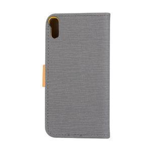Knížkové puzdro pre mobil Lenovo Vibe Shot - šedé - 2