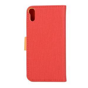 Knížkové puzdro pre mobil Lenovo Vibe Shot - červené - 2