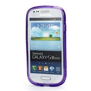 Fialové gélové puzdro pre Samsung Galaxy S3 mini /i8190 - 2