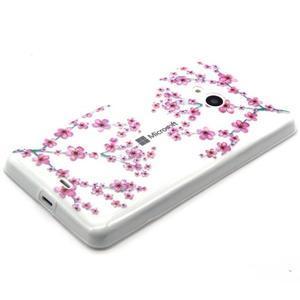 Gélový obal na mobil Microsoft Lumia 535 - květy švestky - 2
