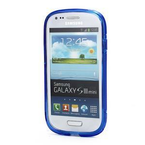 Modré gélové puzdro pre Samsung Galaxy S3 mini /i8190 - 2