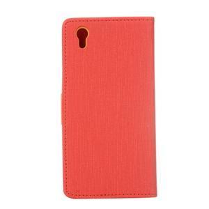 Cloth Textilné/koženkové puzdro pre mobil Lenovo P70 - červené - 2