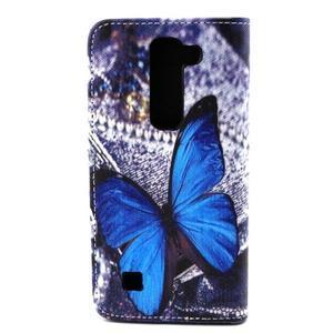 Peneženkové puzdro na mobil LG G4c - modrý motýl - 2