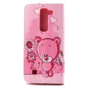 Peneženkové puzdro na mobil LG G4c - medvídek - 2