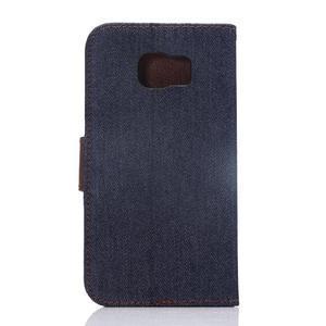 Cloth peňaženkové puzdro pre Samsung Galaxy S6 - čierné - 2