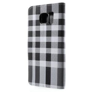 Módní štýlové puzdro na Samsung Galaxy S6 - čierné - 2