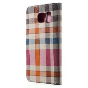 Módní štýlové puzdro na Samsung Galaxy S6 - rose - 2