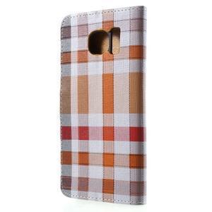 Módní štýlové puzdro na Samsung Galaxy S6 - oranžové - 2