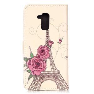 Emotive PU kožené pouzdro na mobil Honor 7 Lite - Eiffelova věž - 2