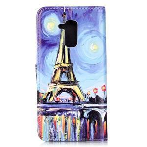 Emotive PU kožené puzdro pre mobil Honor 7 Lite - Eiffelovka - 2
