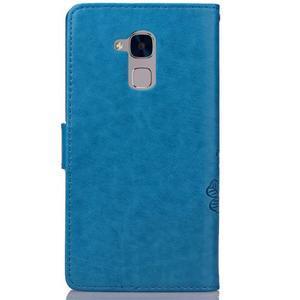 Buttefly PU kožené pouzdro na mobil Honor 7 Lite  - modré - 2