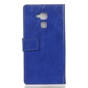Horse PU kožené puzdro pre mobil Honor 7 Lite - modré - 2