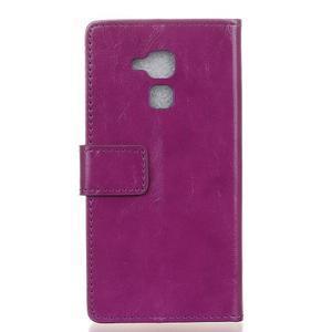 Horse PU kožené pouzdro na mobil Honor 7 Lite - fialové - 2