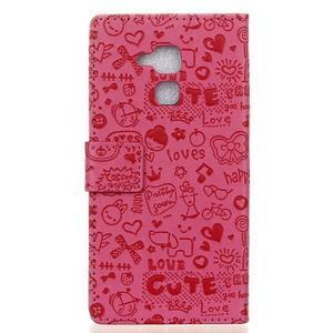 Cartoo pouzdro na mobil Honor 7 Lite - rose - 2