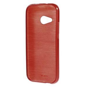 Broušený gélový obal pre HTC One mini 2 - červený - 2
