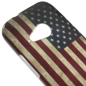 Gélový kryt pre HTC One mini 2 - US vlajka - 2