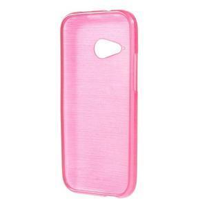 Broušený gélový obal pre HTC One mini 2 - rose - 2