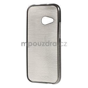 Broušený gélový obal na HTC One mini 2 - čierny - 2