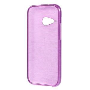 Broušený gélový obal na HTC One mini 2 - fialový - 2