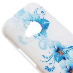 Gélový kryt pre HTC One mini 2 - modrá lilie - 2