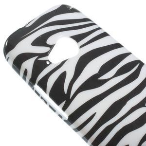 Gélový kryt pre HTC One mini 2 - zebra - 2